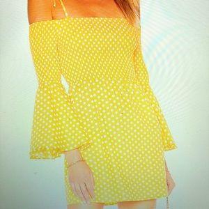 Beautiful Pineapple Yellow Tularosa Dress